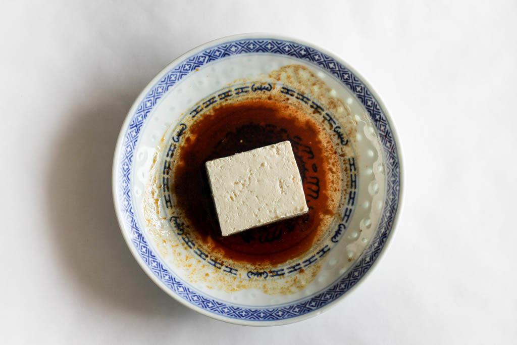 two ingredient tofu marinade