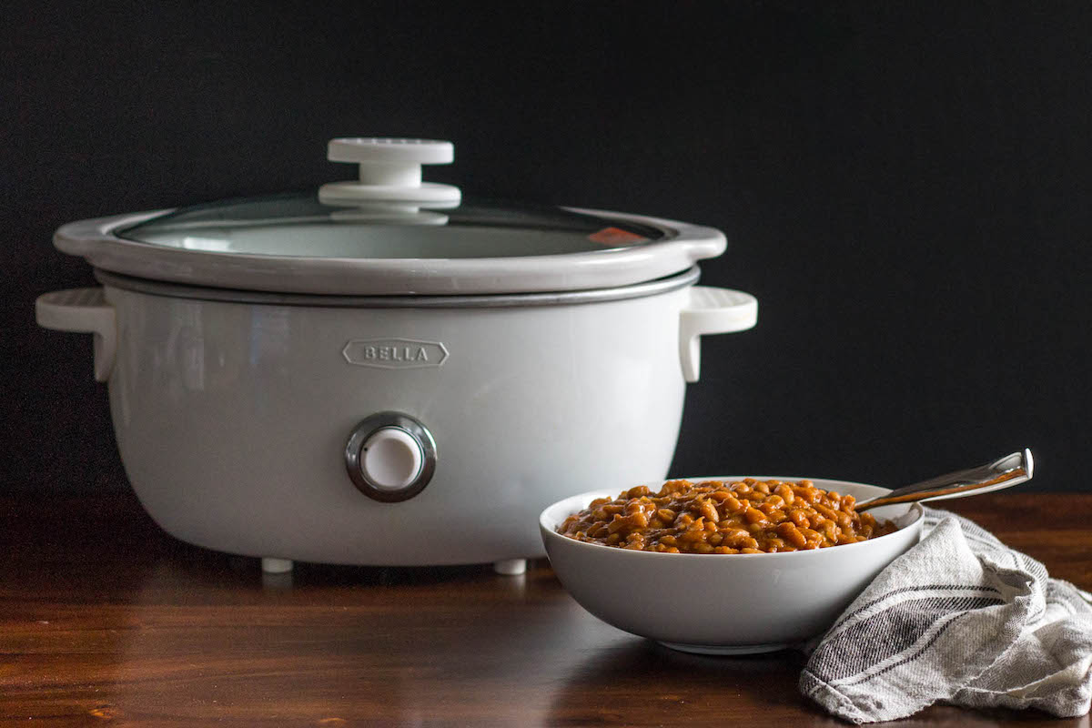 chipotle maple beans with slow cooker