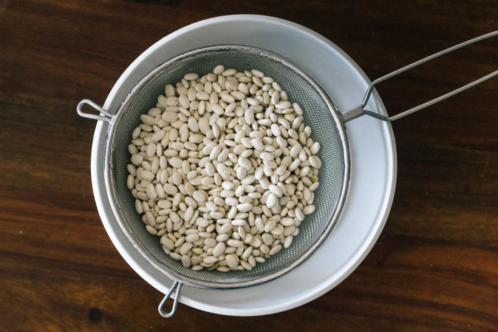 drained and rinsed white beans