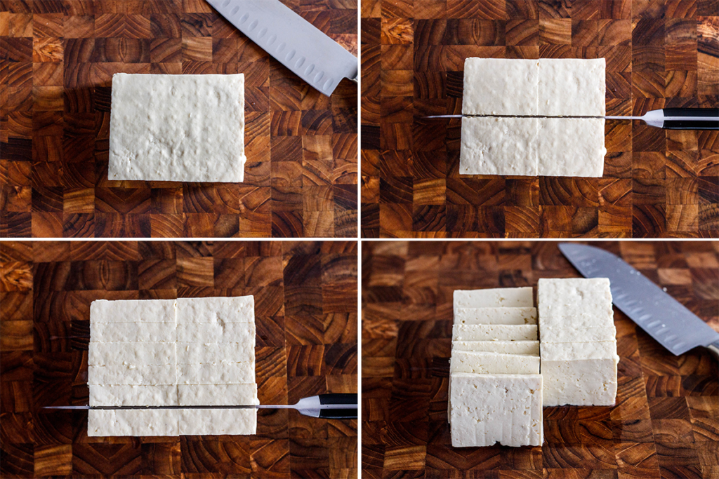 how to slice tofu to cook