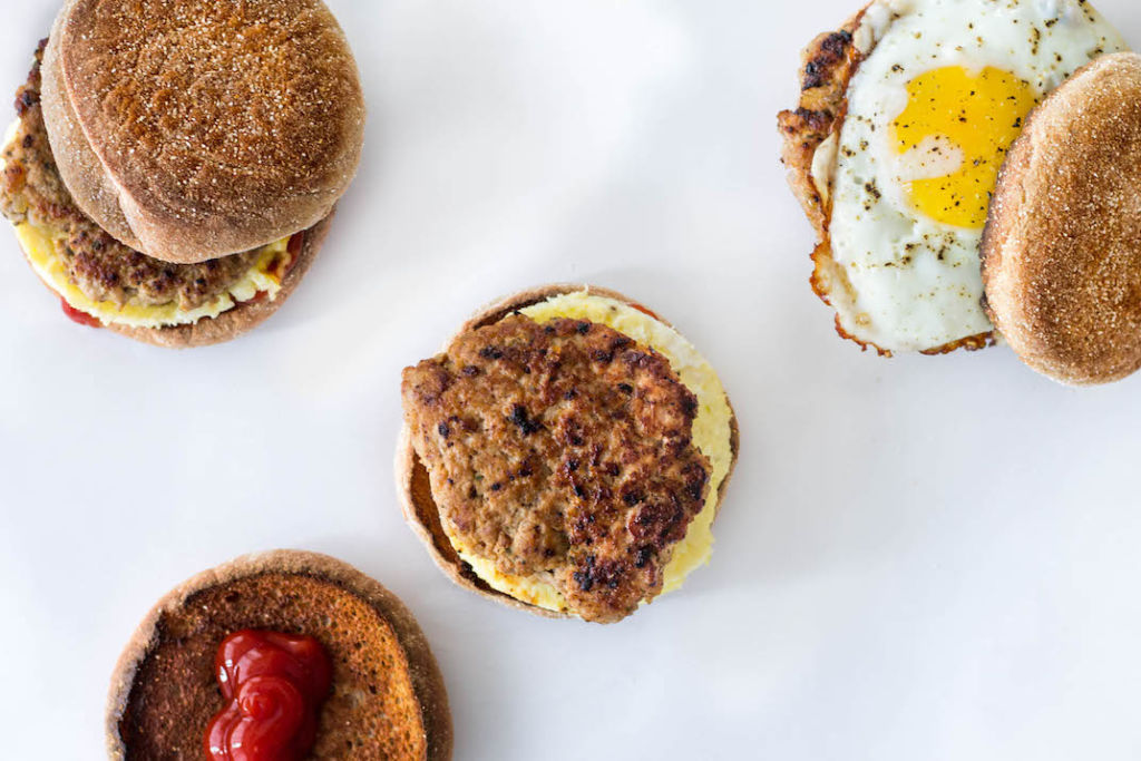 turkey maple breakfast sausage personalized breakfast sandwiches