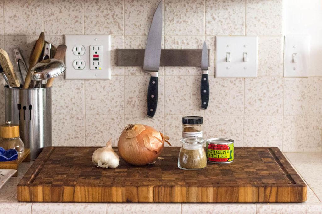 white chicken chili onion green chili spices