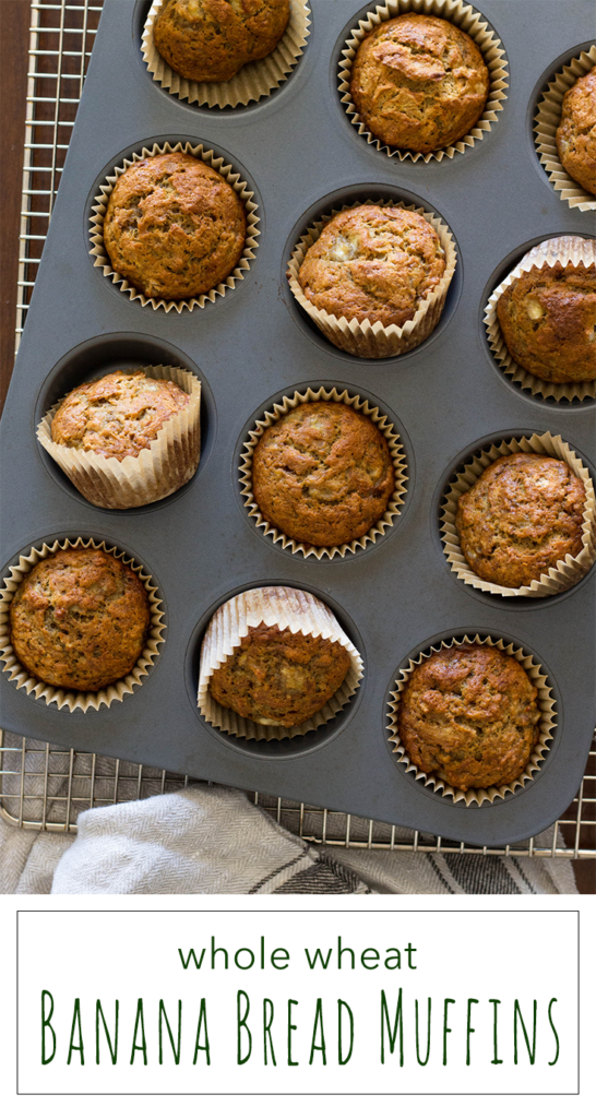 Stir together these whole wheat banana muffins in ten minutes, and your belly will be rewarded 20 minutes later.